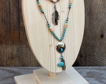 """Necklace display, 10"""" x 7"""" wood display availble in colors"""