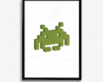 Space Invader - Green