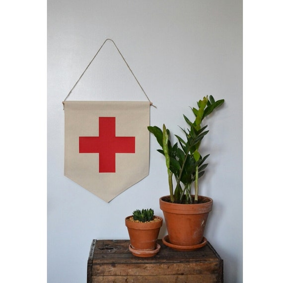 Handmade Swiss Cross Hanging Wall Banner - Swiss Cross Wall Banner - Handmade Swiss Cross Banner