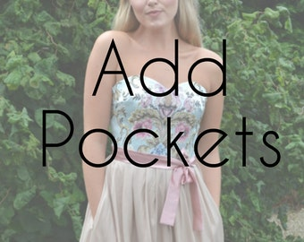ADD POCKETS - add on this listing to include pockets in your dress or skirt