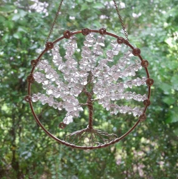 Kristall-Baum des Lebens Suncatcher Wohnkultur Traumfänger