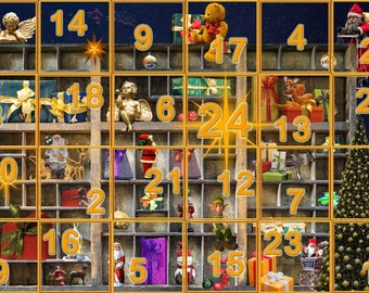 Advent Calendar 2017 Christmas Countdown 25 Days Until Christmas Instant Digital Download Print