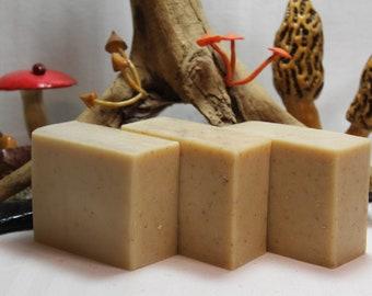 Oatmeal, Goat's Milk, and Honey Handmade Soap 4.5 oz Homemade Cold Process Bar