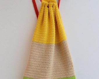 BIG Tote bag  crochet bag holiday travel backpacks