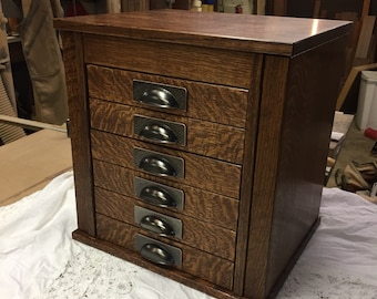 Dresser-top Craftsman Jewelry Armoire