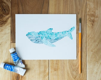 Whale of a Tale Watercolor