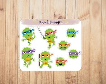 Teenage Mutant Ninja Turtle stickers TMNT