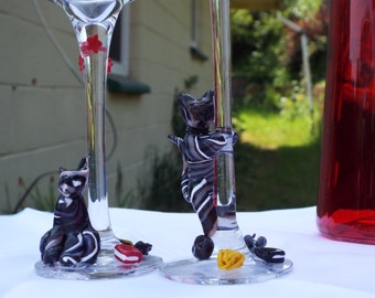 Playfull Cats candle holder set