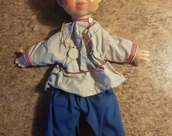 Vintage Hand/Glove Puppet Marionette Doll- Krugozor Factory, Ussr/Russia 1960-70