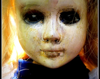 ghost girl. A handpainted Porcelain doll