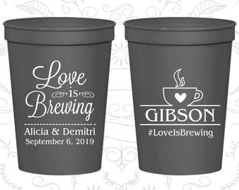 Charcoal Stadium Cups, Charcoal Cups, Charcoal Party Cups, Charcoal Wedding Cups (588)