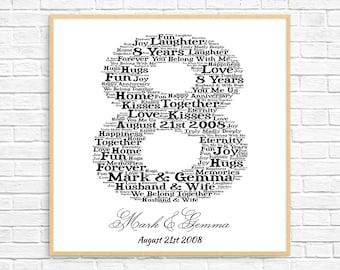 8th anniversary gift | Etsy