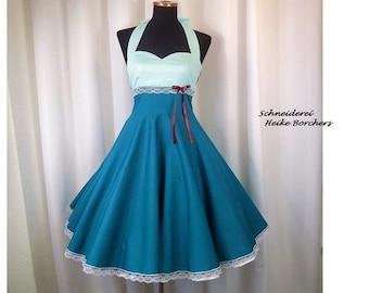 Petticoat Dress, Neckholder Dress, Dress, Rockabilly, Wedding, Wedding Dress, Confirmation Dress,
