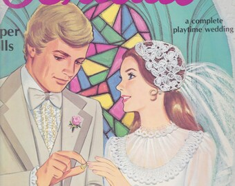 Bridal Doll Book Paper Dolls: A Complete Playtime Wedding 5 Paper Dolls Vintage Book