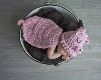 Newborn Baby Pig Piglet Photography Prop for Farm Themed Nursery or Costume