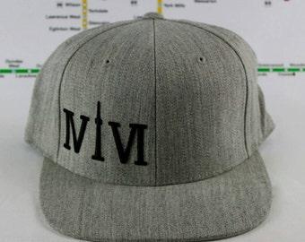 Heather Grey-tness! 416 hats. Original, Custom, Snap backs, CN Tower, The Six, 6ix, Area Code, 416 Hats, 647, Roman Numerals, The Weeknd!