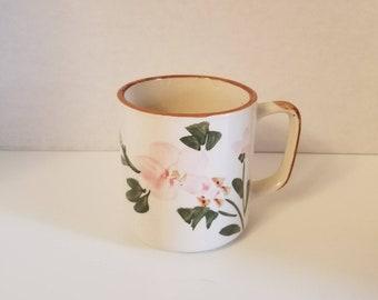 Pink Floral China Stoneware Coffee Mug VC0