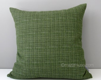 SALE - Olive Green Tweed Outdoor Pillow Cover, Modern Throw Pillow Case, Decorative Pillow Cover, Surge Cilantro, Sunbrella Cushion Cover