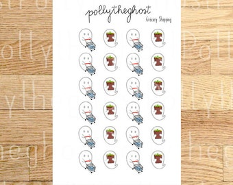Polly Grocery Shopping - planner stickers