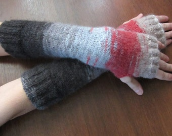 Fingerless Gloves Women Knit Gloves Mittens Winter Accessories Arm Warmer Fingerless Mitts