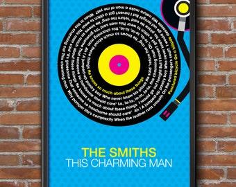The Smiths - This Charming Man Song Lyrics Wall Art Poster Print.
