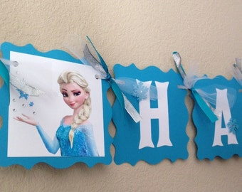 NEW STYLE Frozen Birthday Banner, Frozen Party, Frozen Decorations, Frozen Birthday Party, Frozen Banner, Frozen Birthday, Frozen Decoration