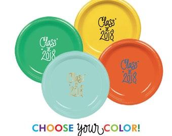Graduation Dessert Plates | Choose YOUR Color!