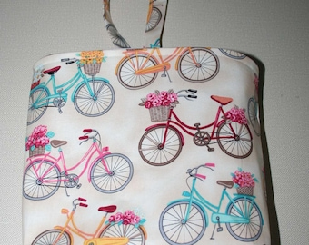 Waterproof, Wipeable and Washable Bicycles on Cream Car Trash Bag