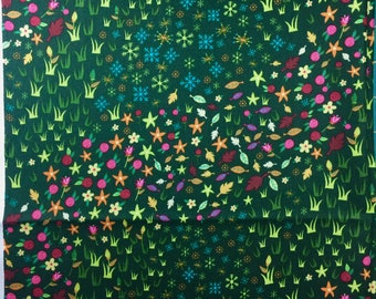 Storybook Lane spring meadow green fabrics Fat Quarter or more
