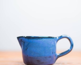 Blue Speckled Creamer