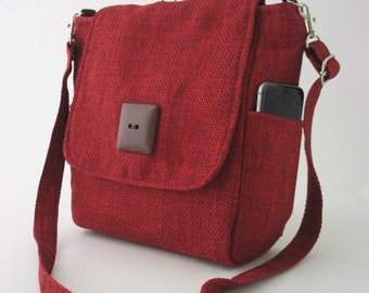 womens backpack purse converts to messenger bag, crossbody handbag, red bag, sling bag, shoulder tote bag,  zipper bag, fits Ipad