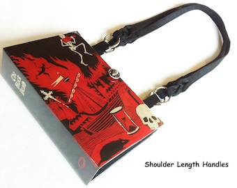 The Black Death Recycled Book Purse - The Plague Book Bag - Macabre Gift - Skeleton Collector - European History Gift - Gothic History