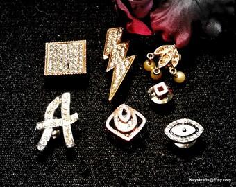 Odd Rhinestone Thumbtacks Pushpins, Different Rhinestone Thumb Tacks Push Pins, Cork Board Accessory, Gift For Him