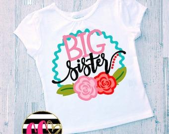 big sister shirt. matching sibling set. girls sibling shirt. girls clothing. big sister announcement