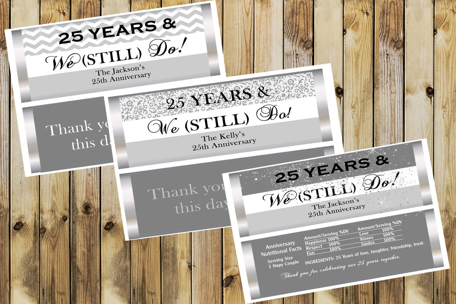 25th Wedding Anniversary Wedding Anniversary party favors