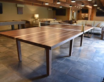 Custom Wood Ping Pong Table-Table Tennis Table-Conference Table-2-in-1 Dining and Table Tennis Table with Retractable Net