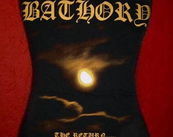 BATHORY diy halter top  girly black metal band The Return shirt xs s m l xl