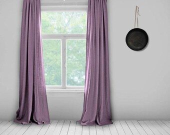 Linen Curtains  Lined  Mauve  Made To Measure Curtains  Bespoke Curtains   Linen