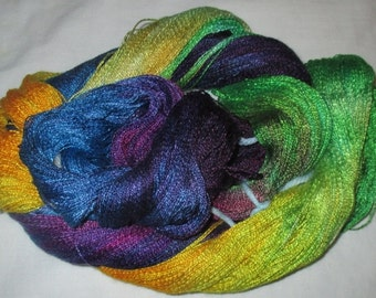 Hand dyed Tencel Yarn - 900 yds. Lace Wt. Tencel Yarn RIVER OF LIGHTS