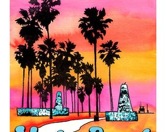Venice Beach Art Walls photo print