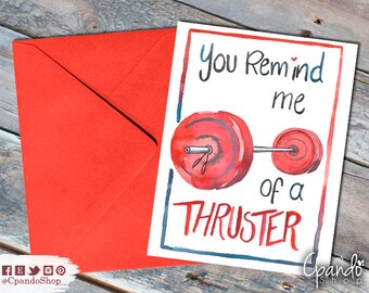 Crossfit Valentines Day Printable Greeting Card - Husband, Boyfriend, Wife, Girlfriend, Anniversary - Fitness, Weightlifting, Fiancee
