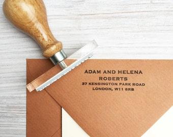 Address stamp | New home gift | New home stamp |New home address stamp | Personalised Address stamp  | Christmas card address stamp UK
