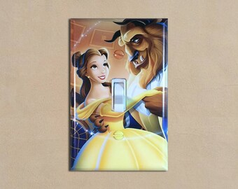 Disney Beaty and the Beast 2 - Light Switch Plate Covers Home Decor Outlet