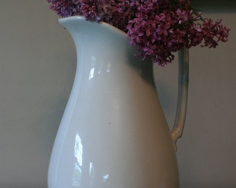 Large Ironstone Pitcher / W.H. Brindley & Co. Royal Ironstone China / Vintage English Ironstone