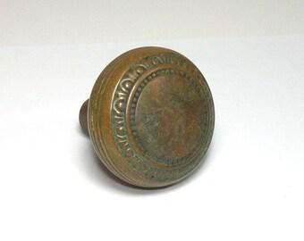 Antique Eastlake Cast Bronze Doorknob Very Interesting Unique Door Knob