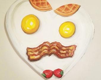 Bacon and Eggs Heart