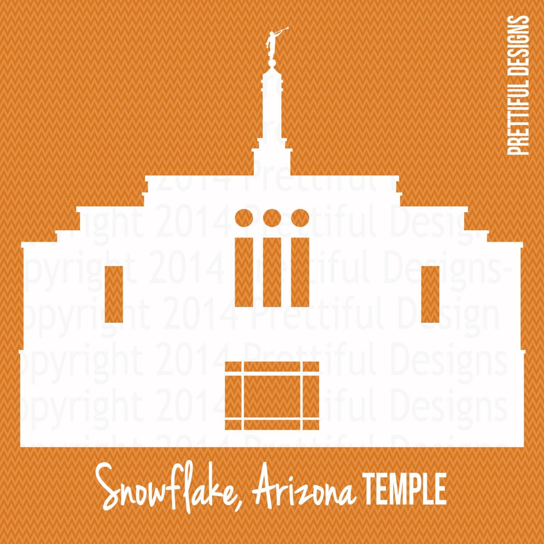snowflake arizona temple silhouette lds mormon clip art png rh etsy com lds temple clip art black and white lds temple clip art black and white