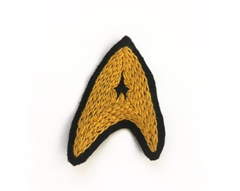 Starfleet Insignia - hand embroidered patch
