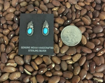 Handcrafted turquoise earrings