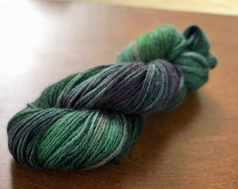 Destash! Worsted Hand dyed yarn hand painted wool